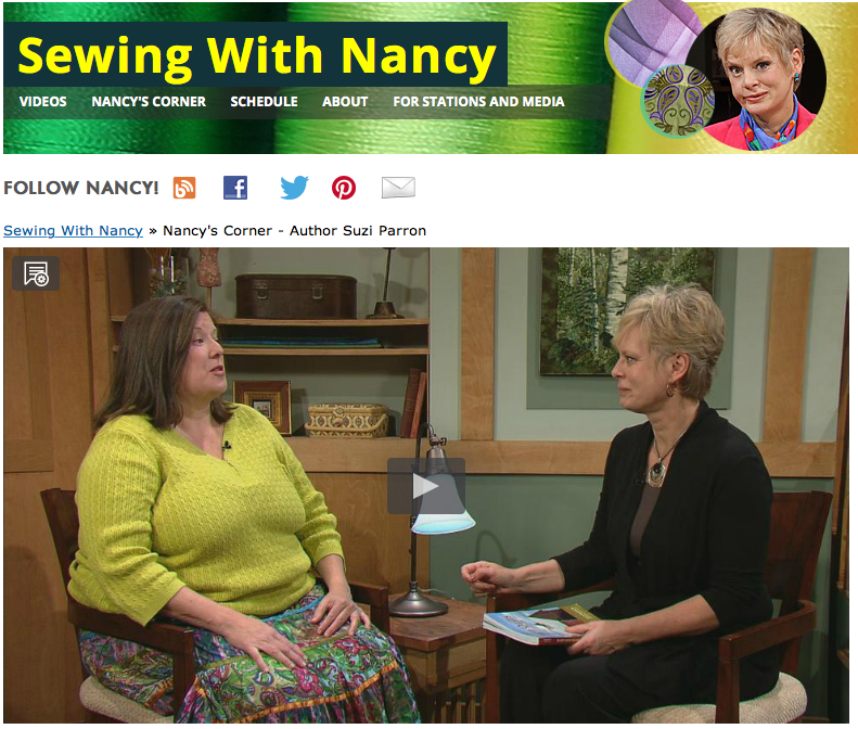Barn quilts Nancy Zieman and Suzi Parron on Sewing With Nancy