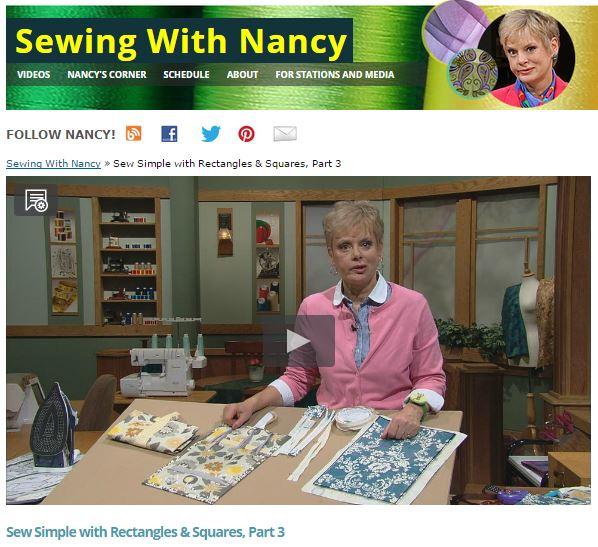 Sewing With Nancy Zieman Napkins