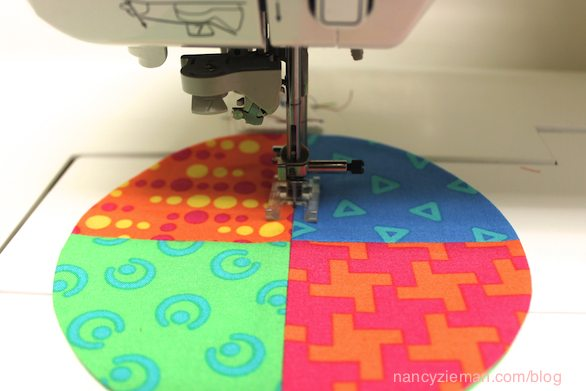 How to sew a mug rug with fabric scraps Nancy Zieman
