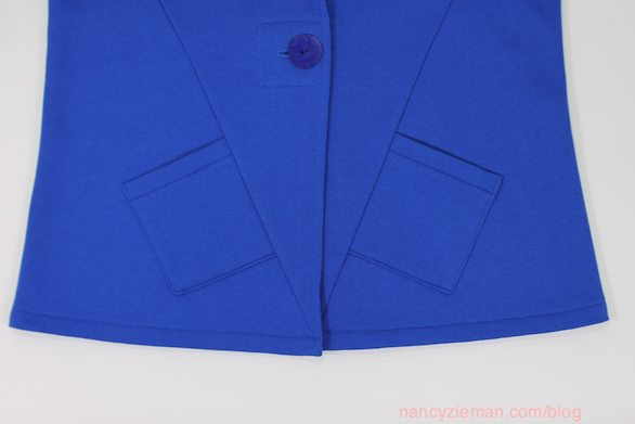 The absolute easiest way to sew a mitered patch pocket by Nancy Zieman