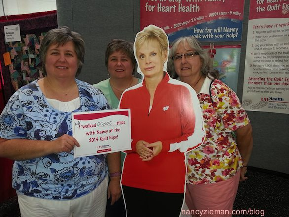 Quilt Expo Madison Wi September 10-12 2015  UW Health Go Red for Women