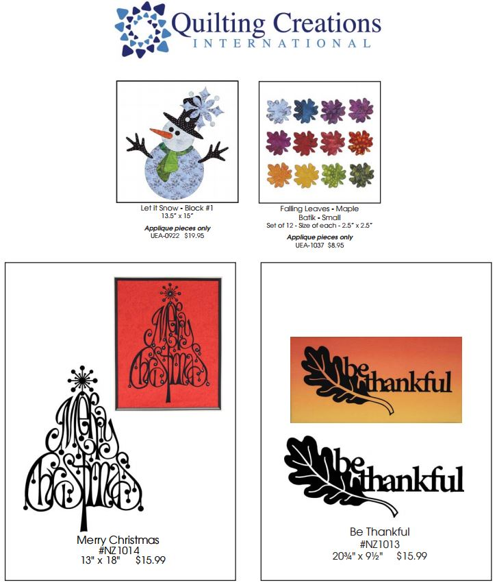 Quilting Creations International Prize Bundle for Nancy Zieman's Fall Table Runner Challenge