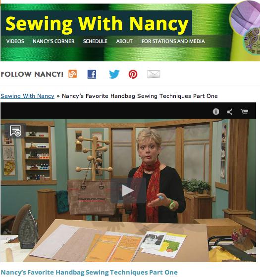 Nancy Zieman's Favorite Handbag Sewing Techniques