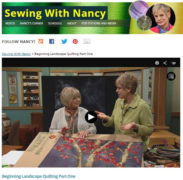 Landscape quilting by Natalie Sewell and Nancy Zieman, inspirational photo