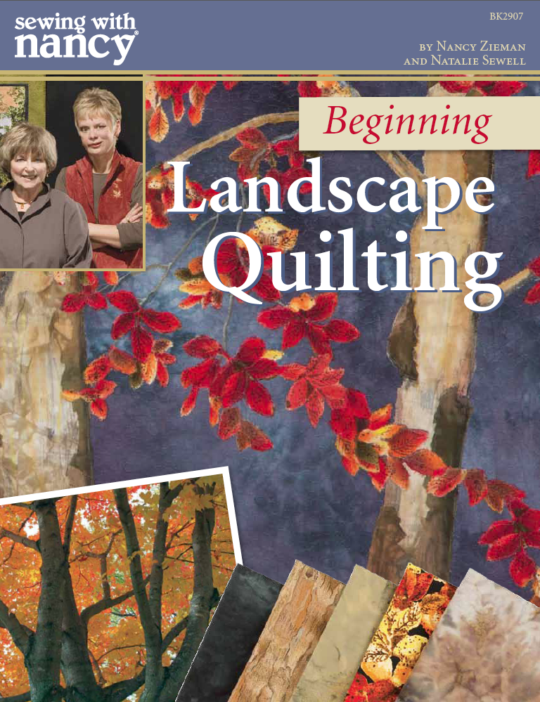 Beginning Landscape Quilting Book by Nancy Zieman and Natalie Sewell from TVs Sewing With Nancy