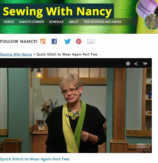 Quick Stitch to Wear Again by Nancy Zieman