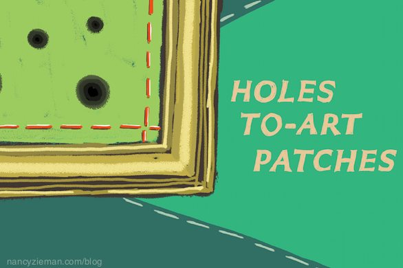 How to mend rips, tears, or holes/Nancy Zieman/Sewing With Nancy