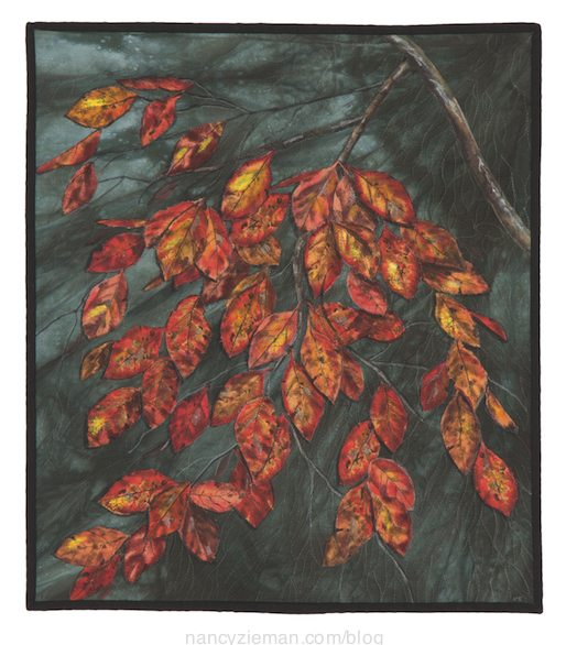 Landscape quilting by Natalie Sewell and Nancy Zieman, Windy by Natalie Sewell