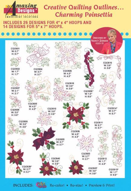 Amazing Poinsettia Designs