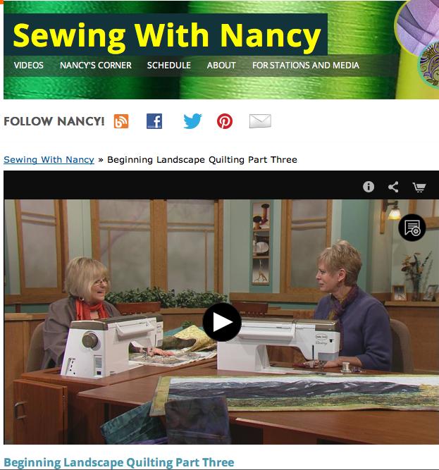 Beginning Landscape Quilting Natalie Sewell & Nancy Zieman