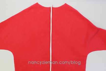 RedKnitPullover NancyZieman 3SergedSeams
