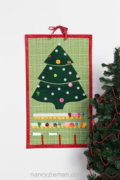 How to sew a Christmas Countdown Calendar as seen on Sewing With Nancy, with Mary Mulari and Nancy Zieman