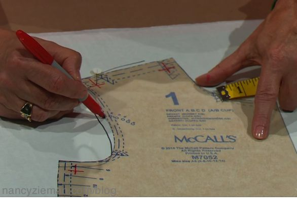 Nancy Zieman shows how to fit a sewing pattern in Solving the Pattern Fitting Puzzle, as seen on the Sewing With Nancy TV Show on PBS.