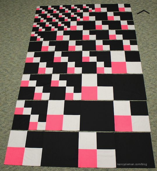 How to make a 4-patch quilt block by Nancy Zieman as seen on Sewing With Nancy