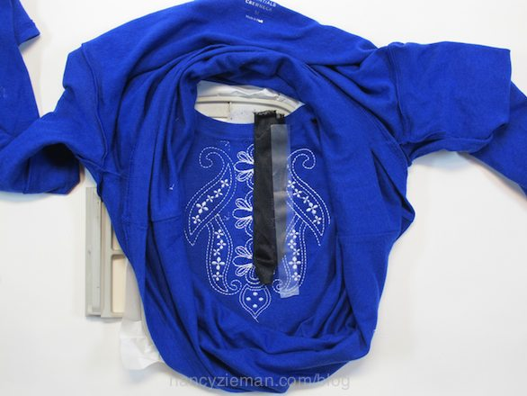 How to remake a t-shirt with machine embroidery Nancy Zieman Eileen Roche