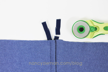 How To LappedZipper NancyZieman 15
