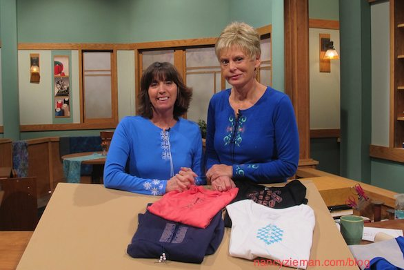 Simple To Chic T-shirt Remakes, How to Embroider a T-Shirt, Nancy Zieman Eileen Roche