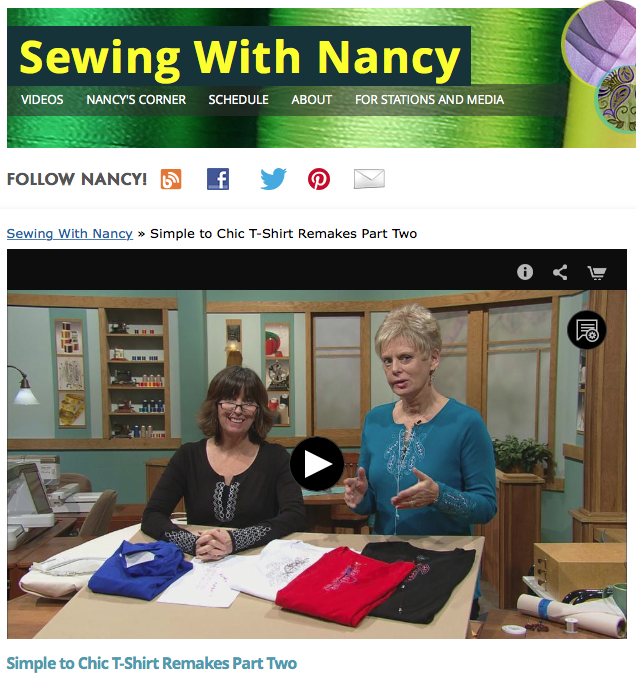 Simple to Chic T-Shirt Remakes Part Two as Seen on Sewing With Nancy