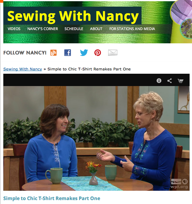 Simple to Chic T-Shirt Remakes with Eileen Roche and Sewing With Nancy Zieman