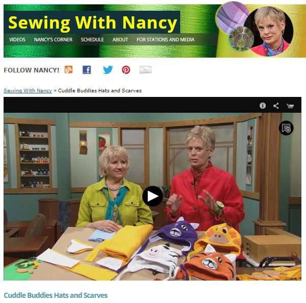 Sew kids' fleece hats and scarves/Cuddle Buddies/Sewing With Nancy Zieman