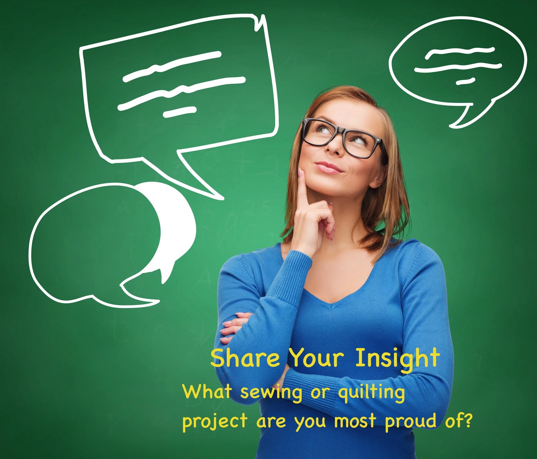 Nancy Zieman's blog/Share Your Insight