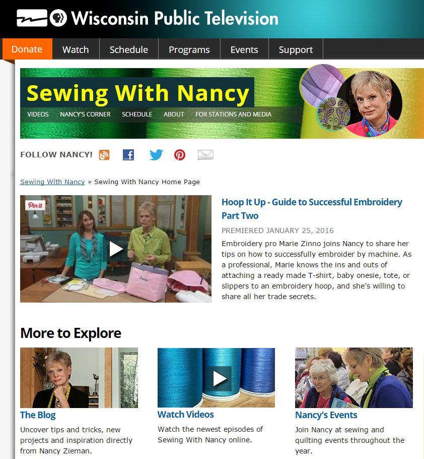 WatchSewingWithNancy NancyZieman