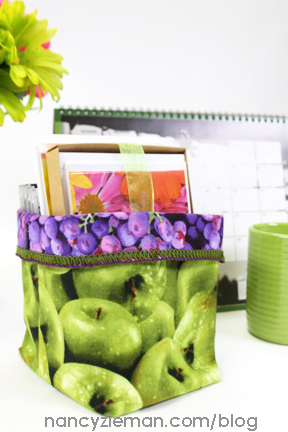 Serge a Colorful Fabric Bin with Nancy Zieman