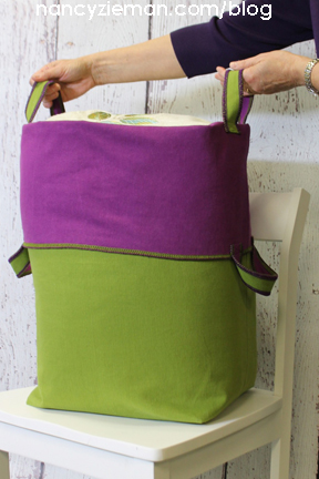 How to use a Serger to sew a Fabric Tote by Nancy Zieman | Sewing With Nancy