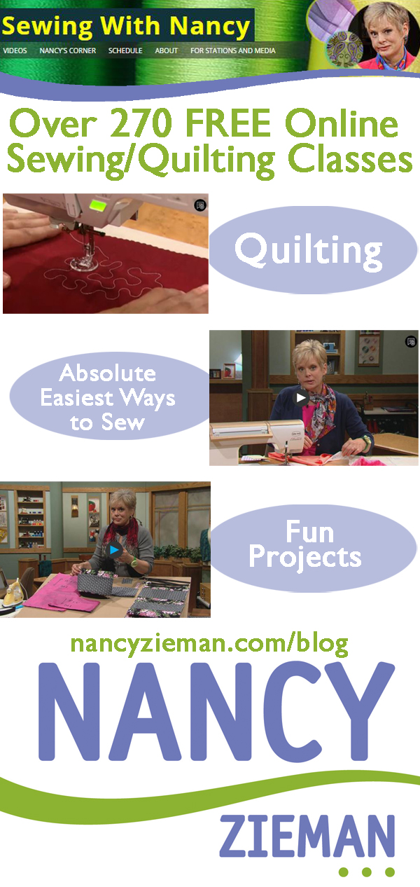 Watch Sewing With Nancy Zieman Online at NancyZieman.com