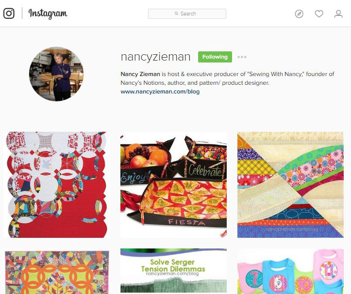 Follow Nancy Zieman on Instagram