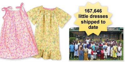 Little Dresses for Africa on Nancy's Corner hosted by Nancy Zieman