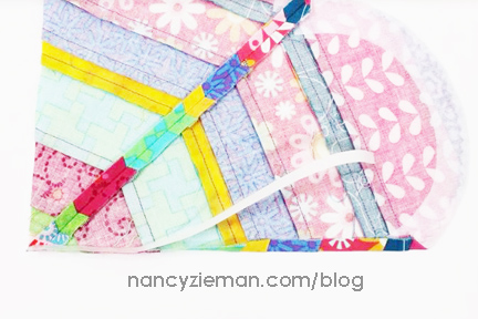 August Block of the Month | 2016 Adventure Quilt | Nancy Zieman | Sewing With Nancy | Carefree Curves Template
