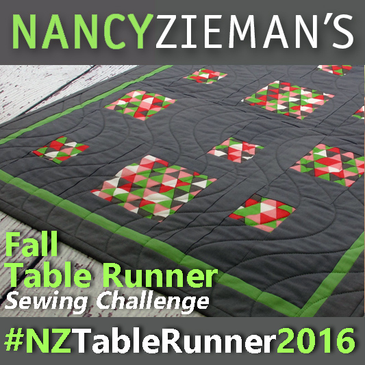 Join Fall Table Runner Challenge hosted by PBS's NancyZieman | Sewing With Nancy