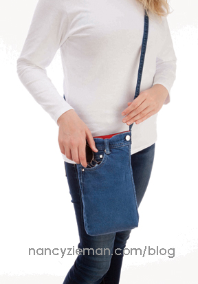 Cross Body Bag Nancy Zieman Denim