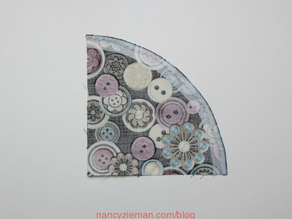 How to sew a drunkards path quilt block. Nancy Zieman/Sewing With Nancy