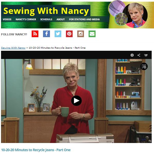 Recycled Jeans Part One Nancy Zieman