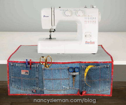 Sewing Machine Apron Denim NancyZieman1