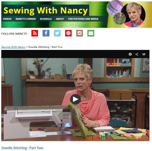 Turn Sketchbook Doodles Into Art with Doodle Stitching by Nancy Zieman | Sewing With Nancy