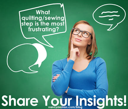 November Reader Insight Question | Nancy Zieman Blog | Sewing With Nancy
