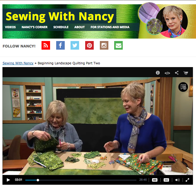 Beginning Landscape Quilting with Nancy Zieman and Natalie Sewell