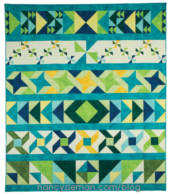Trusty Triangles a Row-By-Row Quilt Sampler by Nancy Zieman | Sewing With Nancy | No Hassle Triangle Gauge