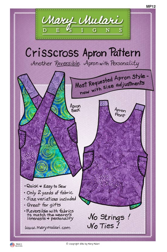National Tie One On Day - Crisscross Apron by Mary Mulari - Nancy Zieman