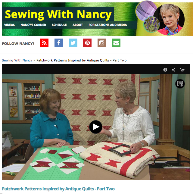 Patchwork Inspired Patterns Part Two with Nancy Zieman and Julie Hendrickson