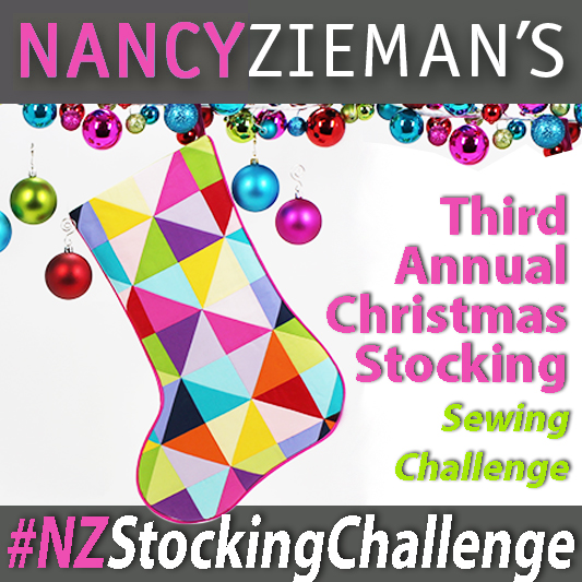 Half-Square Triangle Scrappy Patchwork Christmas Stocking by Nancy Zieman | Third Annual Stocking Sewing Challenge | Sewing With Nancy