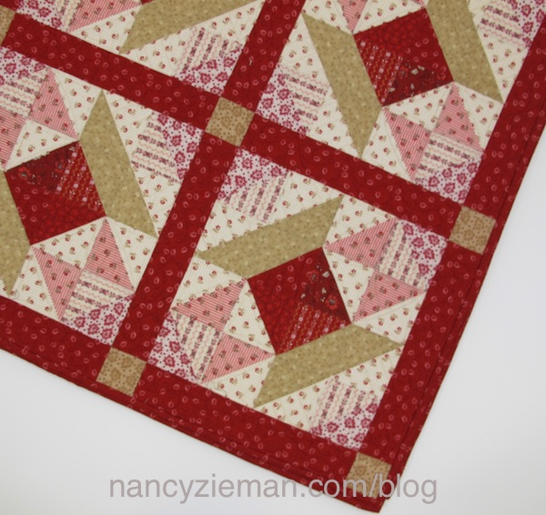 Quilt Pattern by Nancy Zieman, Nancy's Spool Quilt made with half-square triangles