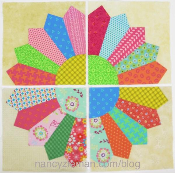 Make a quilt from scraps using Nancy Zieman's Dresden Fan Quilt Pattern
