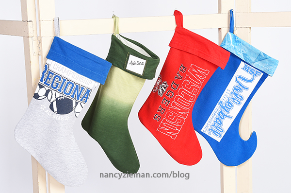 Make a Christmas Stocking from a T-Shirt by Mary Mulari