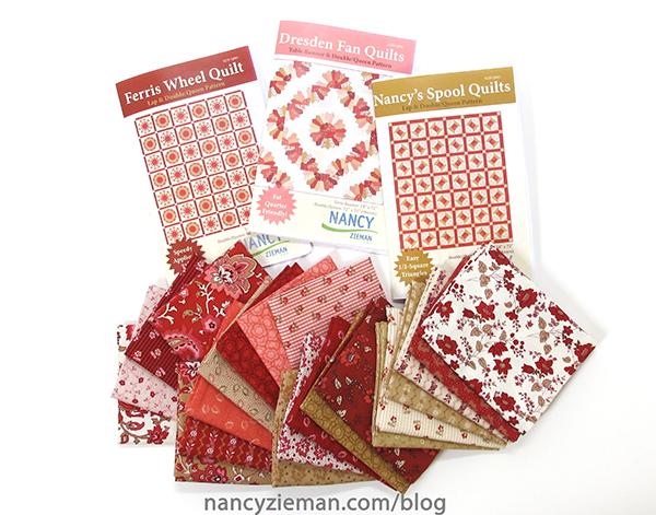 Nancy Zieman's Garnet Fabric Collection for Riley Blake