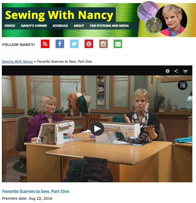 Sewing with Nancy's Favorite Scarves to Sew