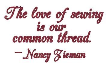CommonThread Embroidery NancyZieman